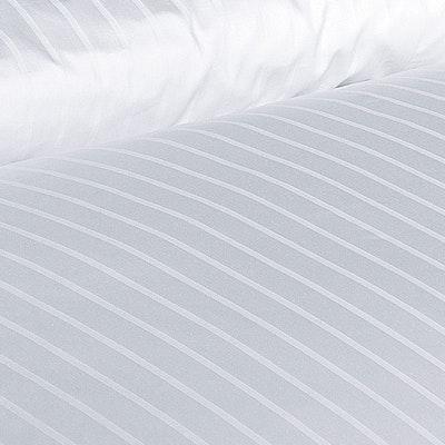 Garnitur 6/24mm Streifensatin Damast-Bettwäsche Mischgewebe
